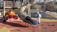 İstanbul Park alanlarının dezenfeksiyon işlemine başladık